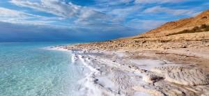 Dead Sea in Jordan, lowest point on earth.