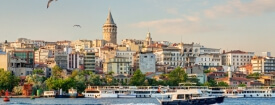 Istanbul galata tower and city