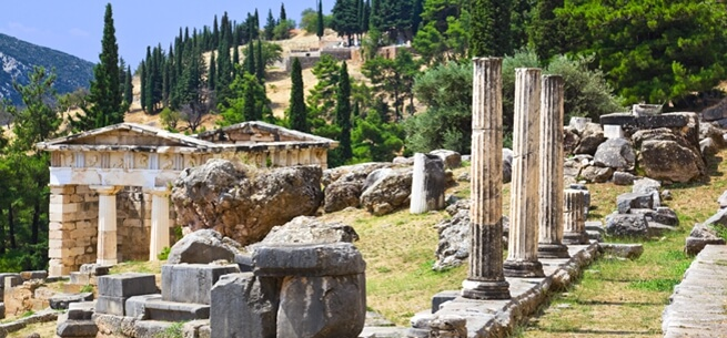 Delphi archaeological site Greece