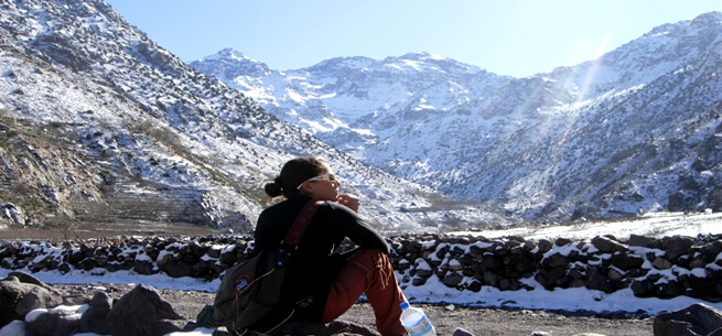 Trekking mountain of Toubkal