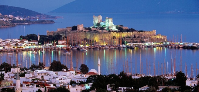 Bodrum at night