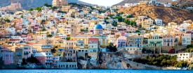 Symi colorful houses